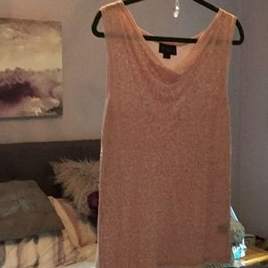 IMAN GLOBAL CHIC SLEEVELESS PINK SEQUINED TANK TOP